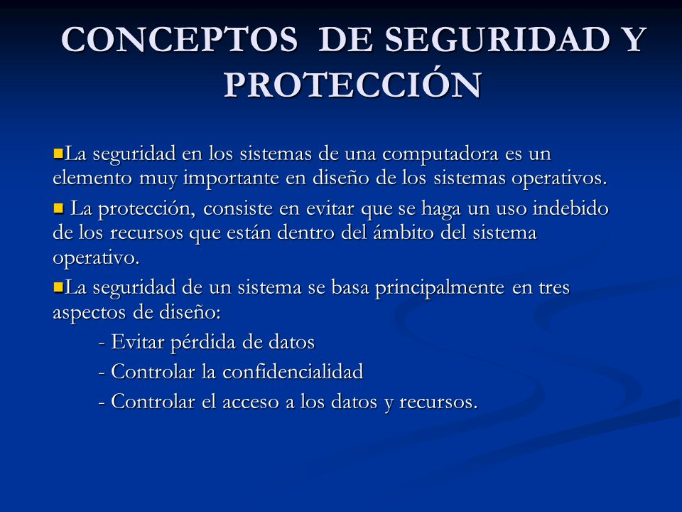 Servicios genéricos Crear un descriptor de protección.