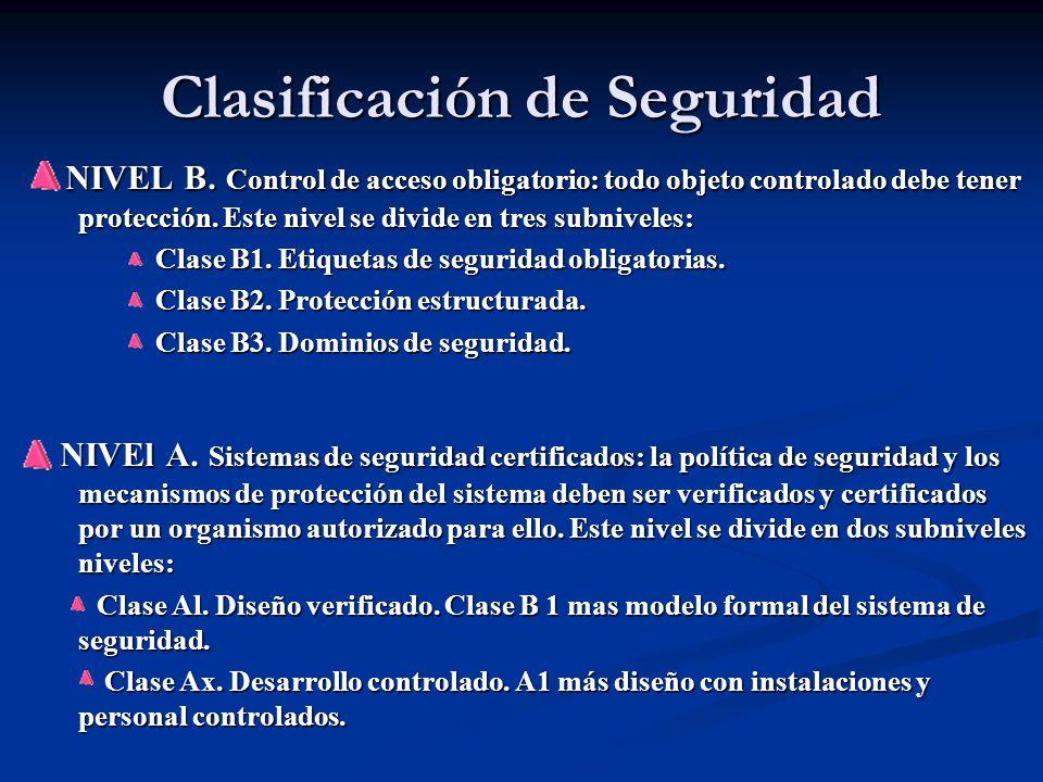 Clasificación de Seguridad NIVEL B.