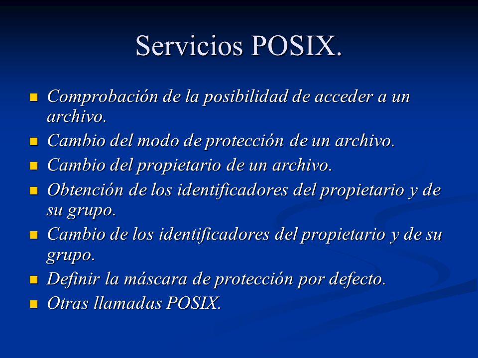 Servicios POSIX.Comprobación de la posibilidad de acceder a un archivo.
