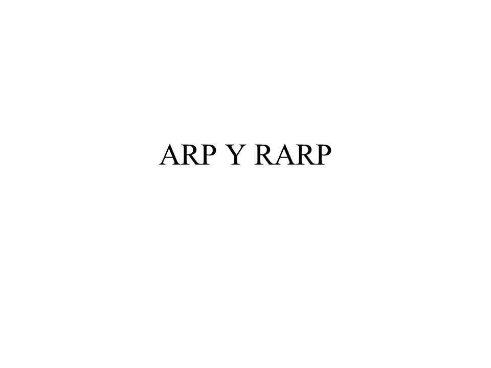 RARP Para ello la máquina emite un mensaje por difusión el cual es recibido por el servidor o servidores RARP y manda de regreso la IP que pertenece a este equipo.