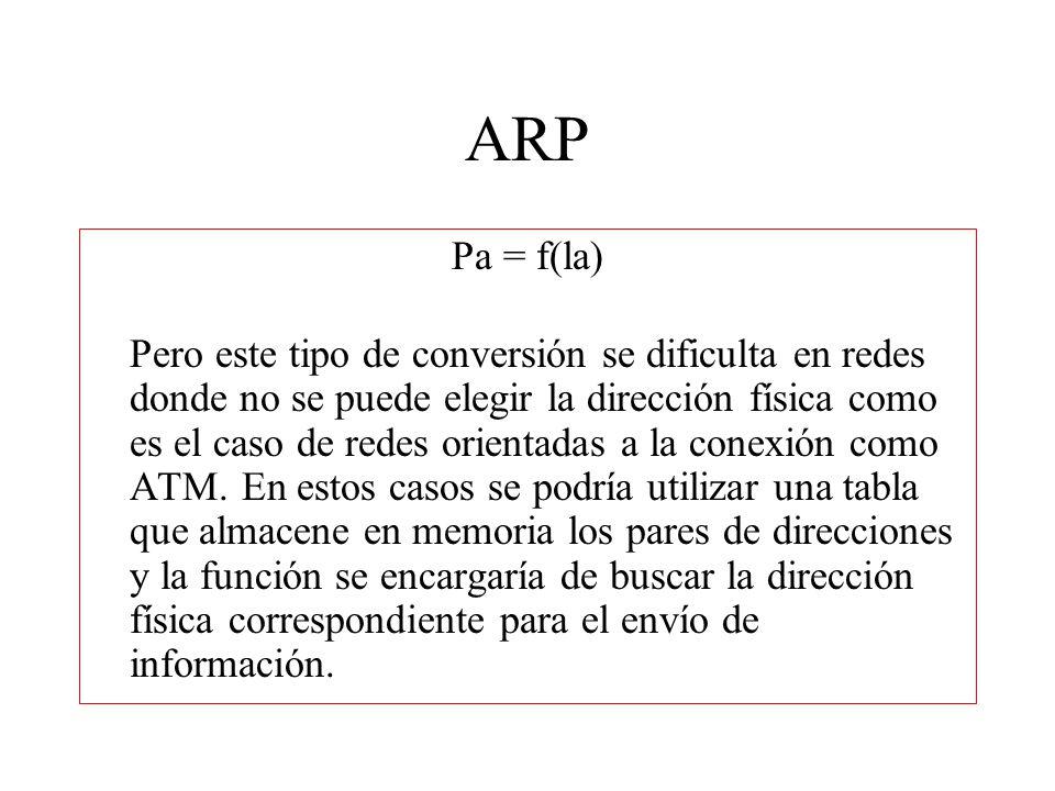 Encabezado ARP HLEN y PLEN permiten que ARP se utilice con redes arbitrarias ya que éstas especifican la longitud de la dirección de hardware y la longitud de la dirección del protocolo de alto nivel.