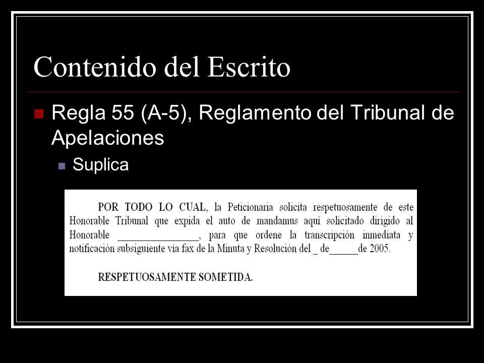 Apéndice Regla 55 (D) Reglamento del Tribunal de Apelaciones.
