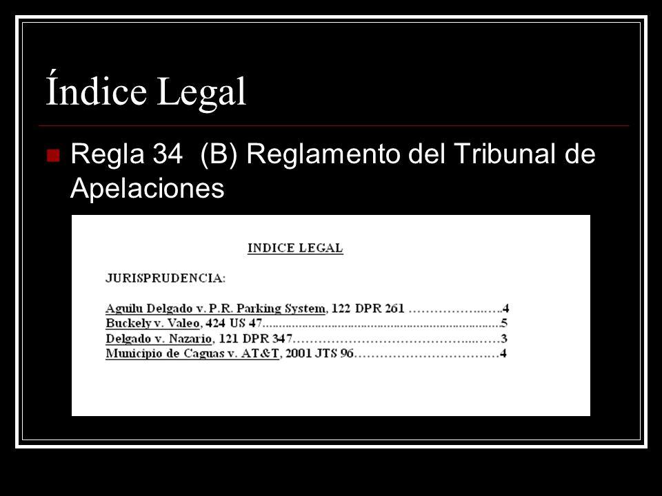 Cuerpo Regla 34 (C-1-a) del Reglamento del Tribunal de Apelaciones Comparecencia, el nombre de las partes