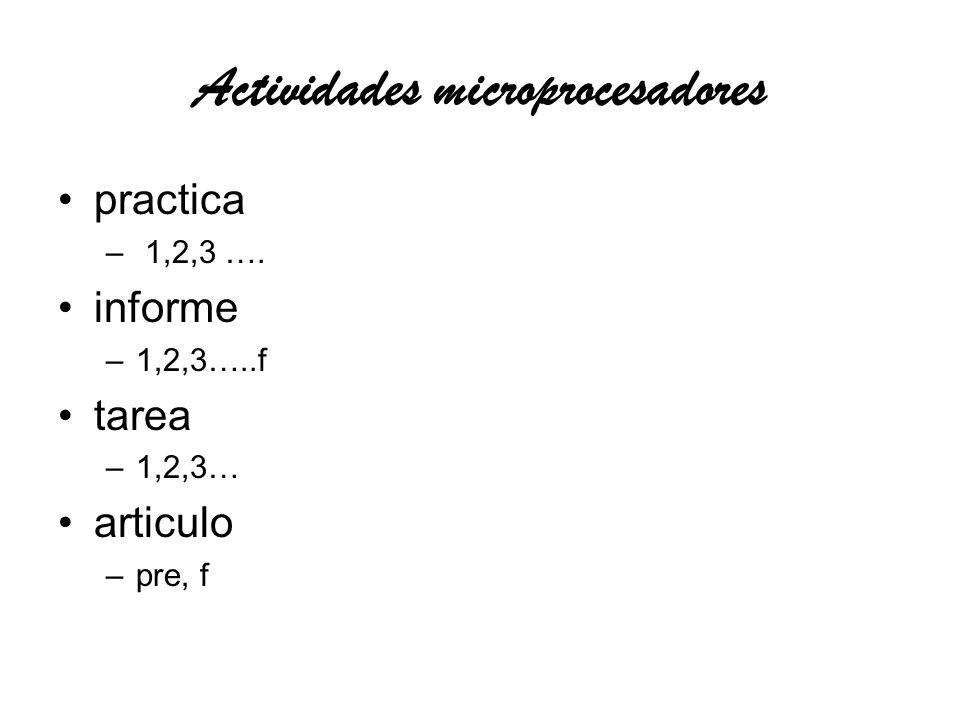 Actividades Automatización practica –neu 1, neu 2, neu 3 –plc1, plc2, plc 3… –caso 1 caso 2 –hmi1 –cnc1, cnc2 … informe –1,2,3, f tarea –1,2,3 ….