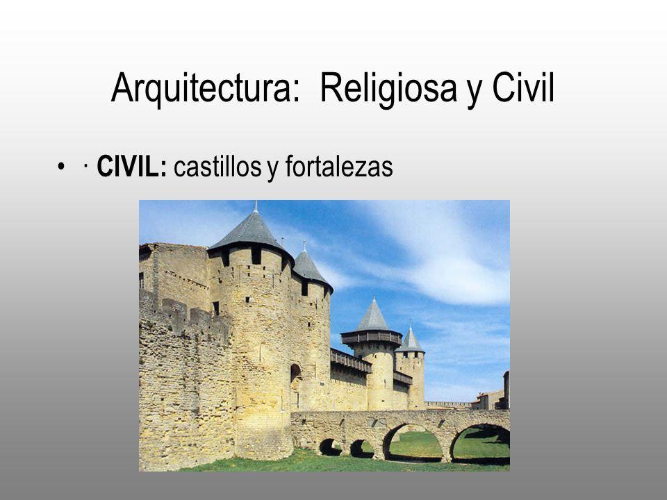 Arquitectura: Religiosa y Civil · CIVIL: castillos y fortalezas
