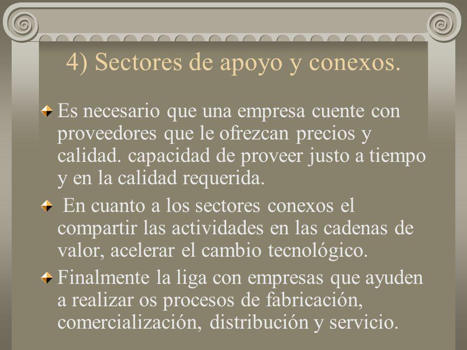 3) La formación de la demanda interna. La demanda interna es un punto de apoyo básico para poder configurar economías de escala que hagan competitiva