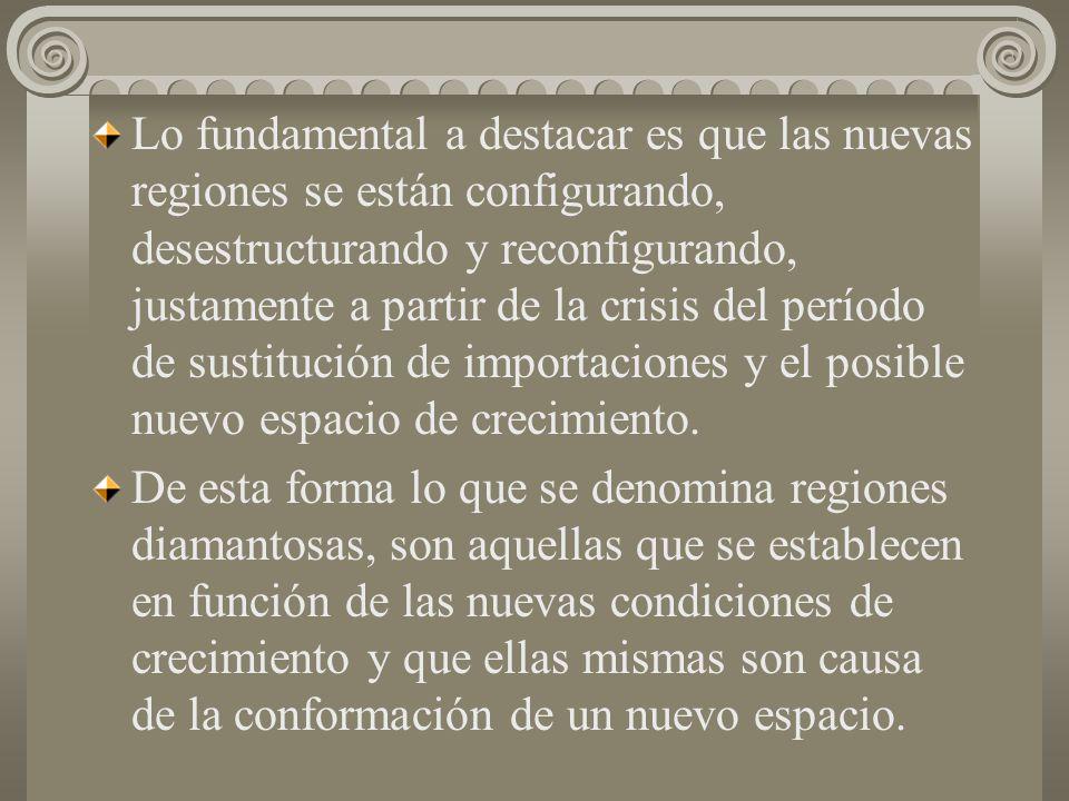 En México y en Brasil se configuró un espacio del crecimiento desde finales de los cuarentas hasta avanzados los sesentas, en Argentina a finales de l