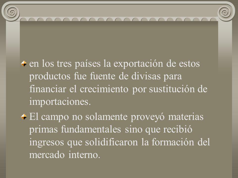 3) La formación de la demanda interna. Desde finales de los cuarentas los salarios reales pagados fueron en aumento lo mismo que la se incrementó con