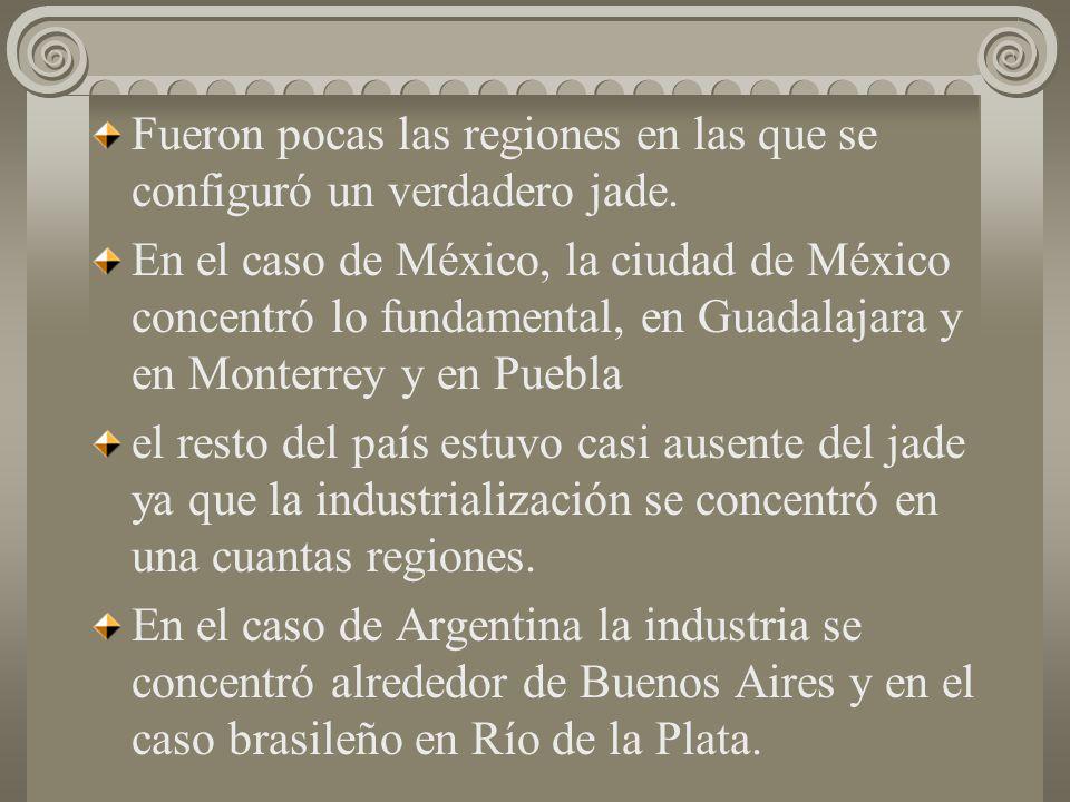4) Sectores de apoya y conexos. La industrialización fue formando poco a poco un conjunto de relaciones interindustriales que un conjunto de sectores