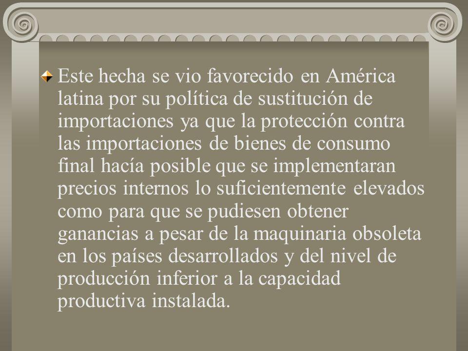 REGIÓN DIAMANTOSA: COMPLEMENTO PURO Y COMPLEMENTO INTEGRACIÓN. Anteriormente la inversión extranjera estaba constituida fundamentalmente por la maquin