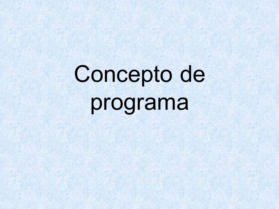 Concepto de programa