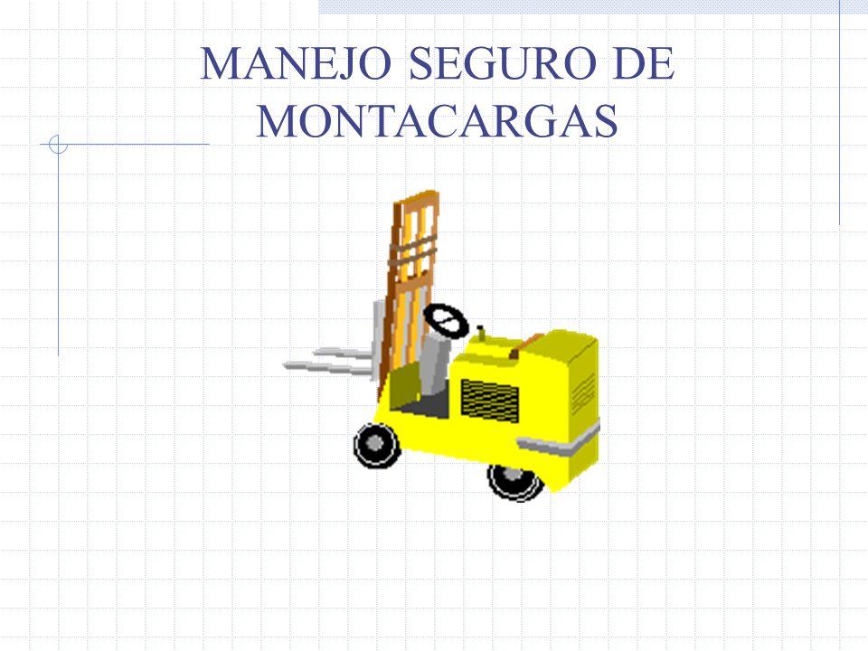 Tipos de cargas (Posición) Mover la torre de elevación hacia atrás, reduce la distancia del CC, aumentando así la estabilidad del montacargas Elevar la carga puede retirar el CC