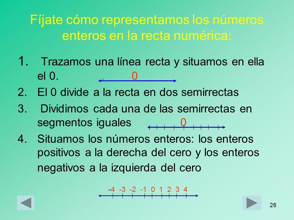 25 Representación de los números enteros en la recta numérica la temperatura que el termómetro ha registrado durante el experimento han sido: lunesmar