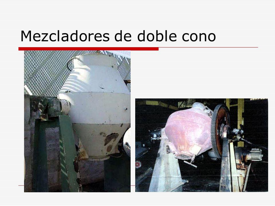 Mezcladores de doble cono