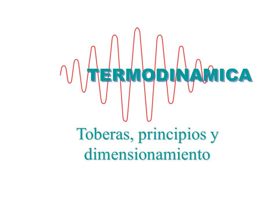 Toberas, principios y dimensionamiento TERMODINAMICA