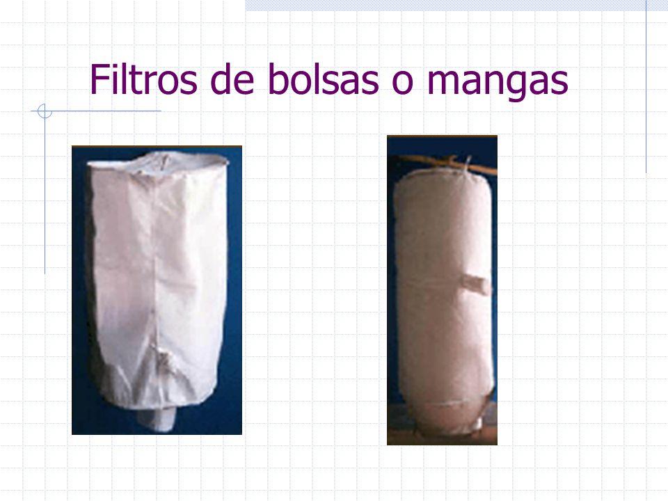 Filtros de bolsas o mangas