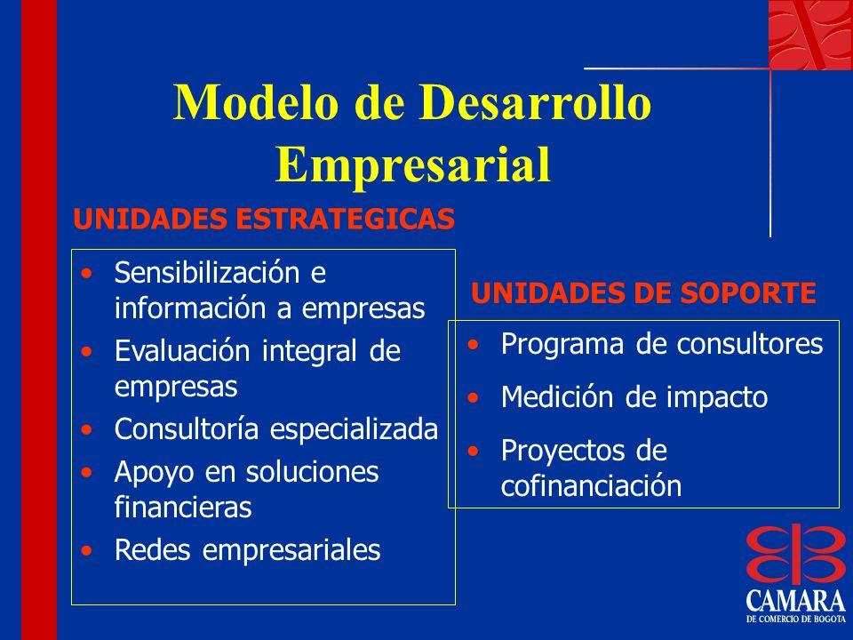 Sensibilización e información a empresas Evaluación integral de empresas Consultoría especializada Apoyo en soluciones financieras Redes empresariales
