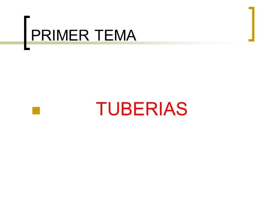 PRIMER TEMA TUBERIAS