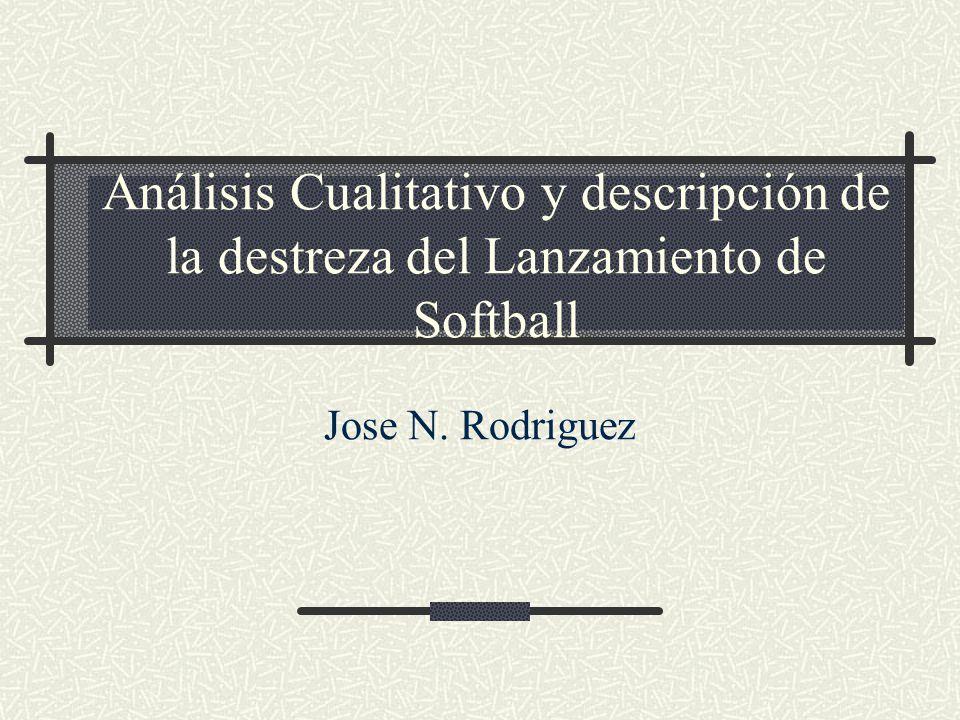 Análisis Cualitativo y descripción de la destreza del Lanzamiento de Softball Jose N. Rodriguez