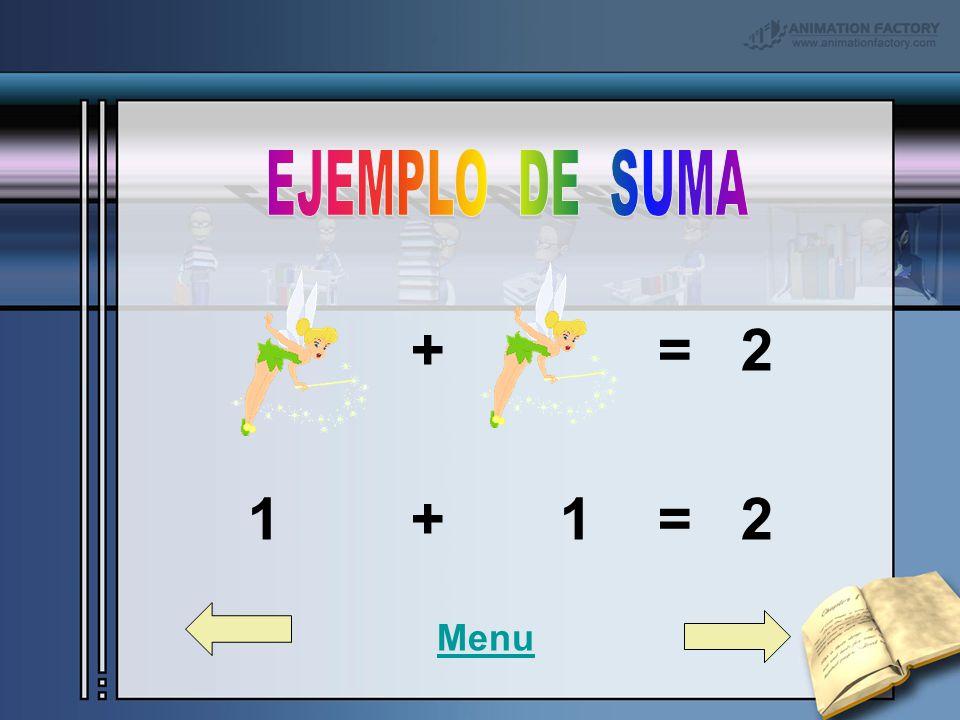 + = 2 1 + 1 = 2 Menu