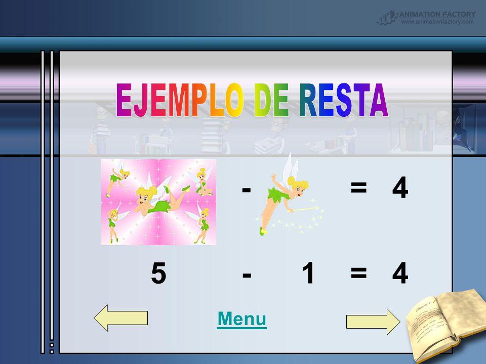 - = 4 5 - 1 = 4 Menu