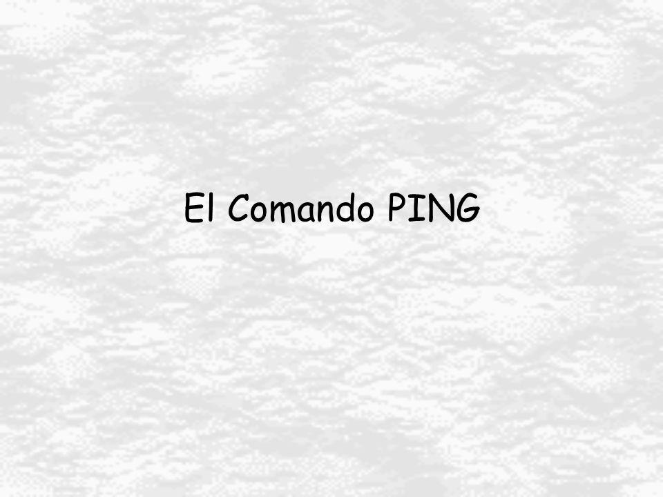 El Comando PING