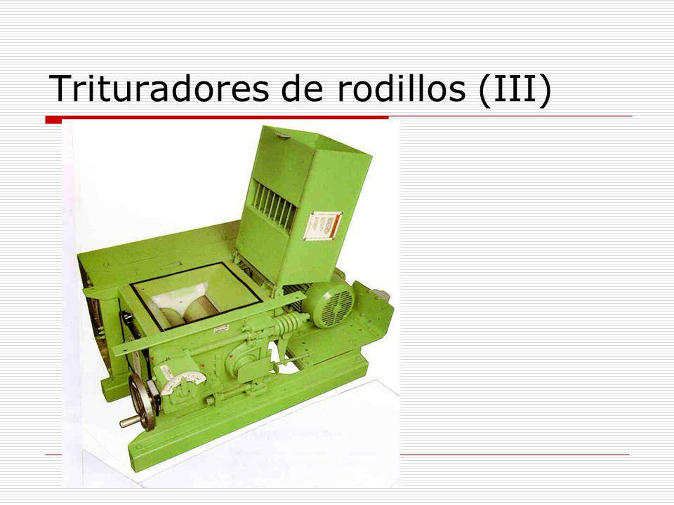 Trituradores de rodillos (III)