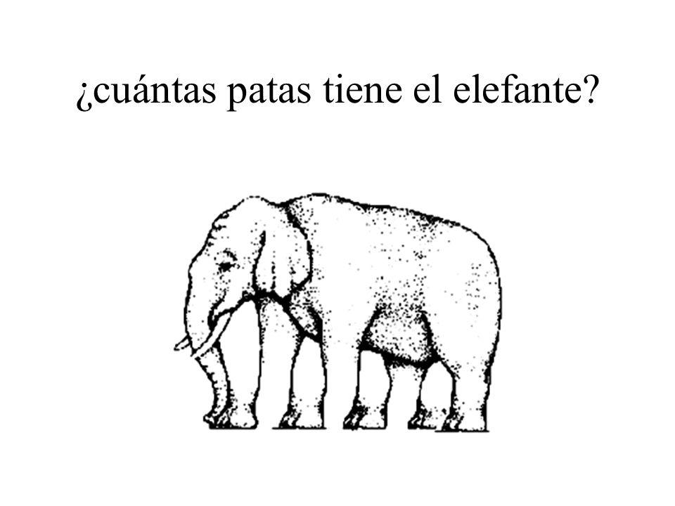 ¿cuántas patas tiene el elefante?