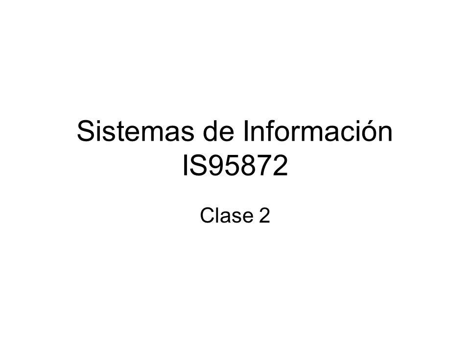 Sistemas de Información IS95872 Clase 2