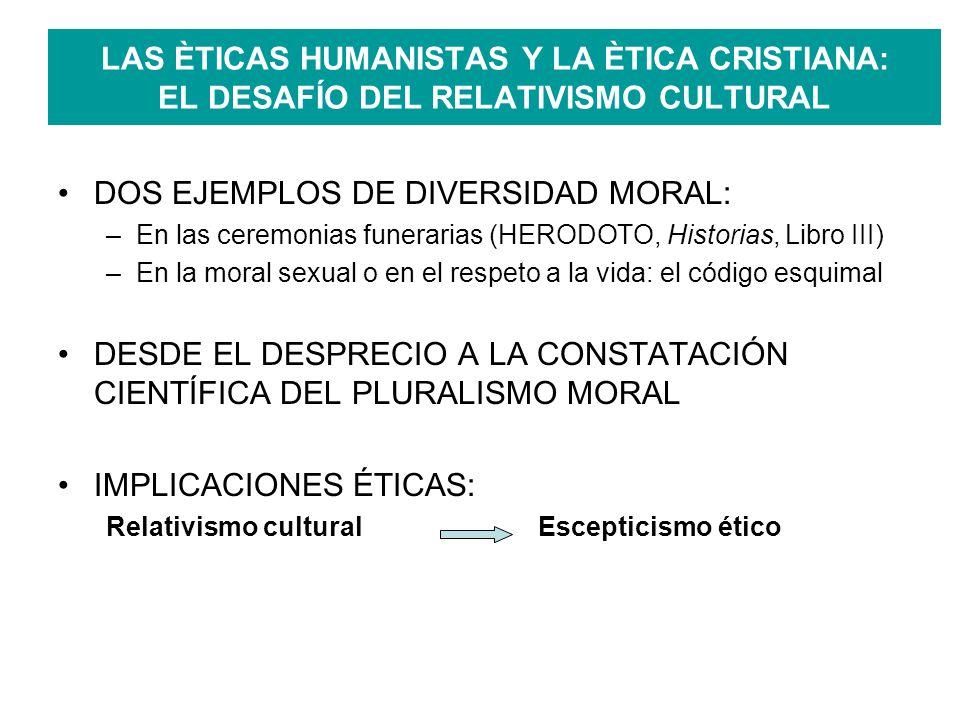 INVALIDEZ LÓGICA DEL ARGUMENTO RELATIVISTA EN LAS ÈTICAS HUMANISTAS Argumento de las diferencias culturales: Diversidad culturalDiversidad moral Escepticismo ético ERROR LÓGICO: Creencias Realidad