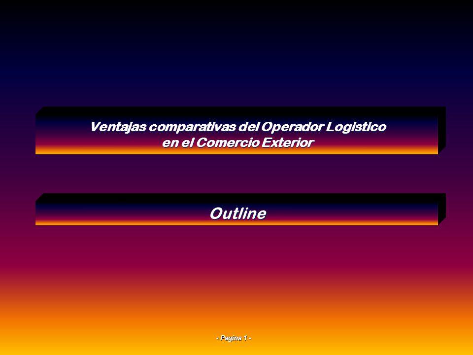 - Pagina 21 - Ventajas de un operador logístico en destino para una exportación Posibilidad de cambios de ruteos en destino ante cambios de cliente.