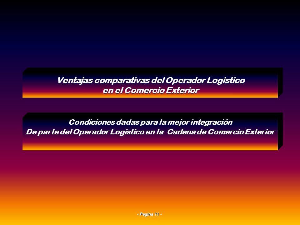 - Pagina 10 - Las empresas deben operar el flujo físico y de información puerta a puerta de las importaciones o exportaciones coordinando las activida