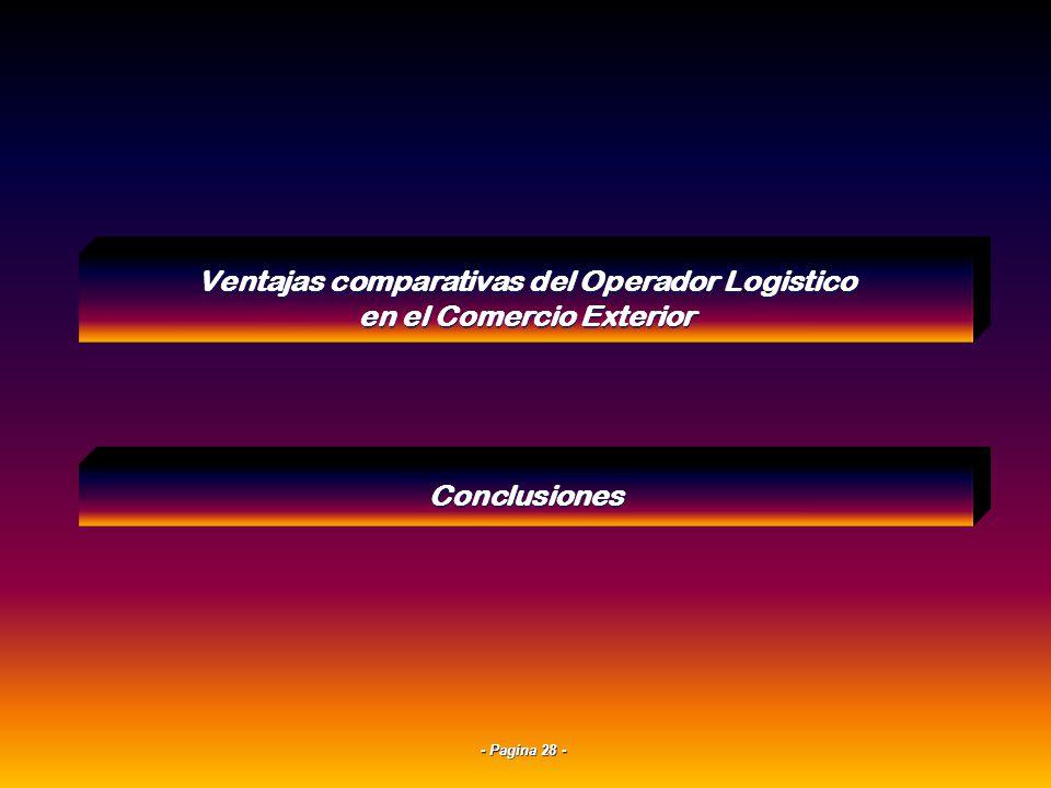 - Pagina 27 - Sistemas Information technologyInfraestructura de Servicios en la WEB Pagina Web del Operador Logístico Datos Indices de Calidad LLP 4Un