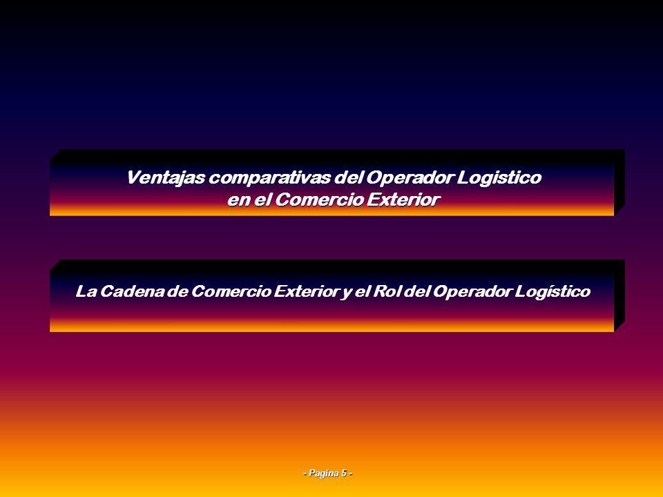 - Pagina 25 - 4Características de los Modos de Transporte: Su Evaluación Comparativa Ventajas comparativas del Operador Logistico en el Comercio Exterior