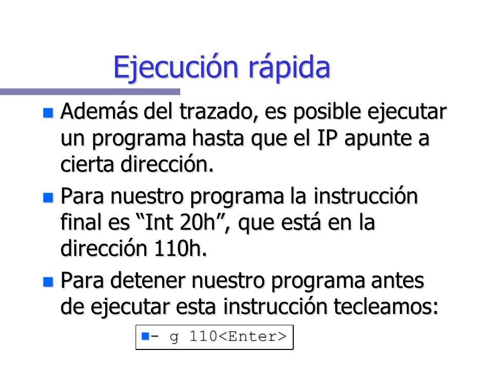 Ahora desensamblo el programa ya corregido: Ahora desensamblo el programa ya corregido: Captura de programa -u 178D:0100 B80000 MOV AX,0000 178D:0103