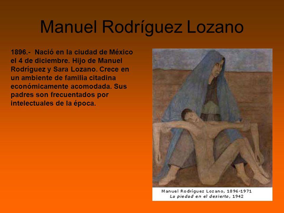 Manuel Rodríguez Lozano 1896.- Nació en la ciudad de México el 4 de diciembre.