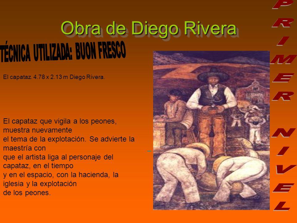 Obra de Diego Rivera El capataz.4.78 x 2.13 m Diego Rivera.