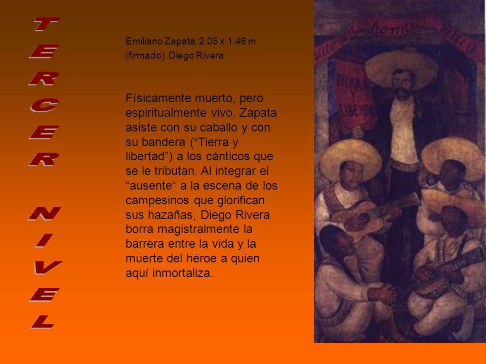 Emiliano Zapata.2.05 x 1.46 m (firmado). Diego Rivera.