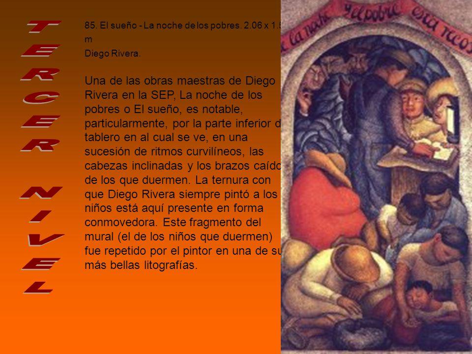 85.El sueño - La noche de los pobres. 2.06 x 1.59 m Diego Rivera.