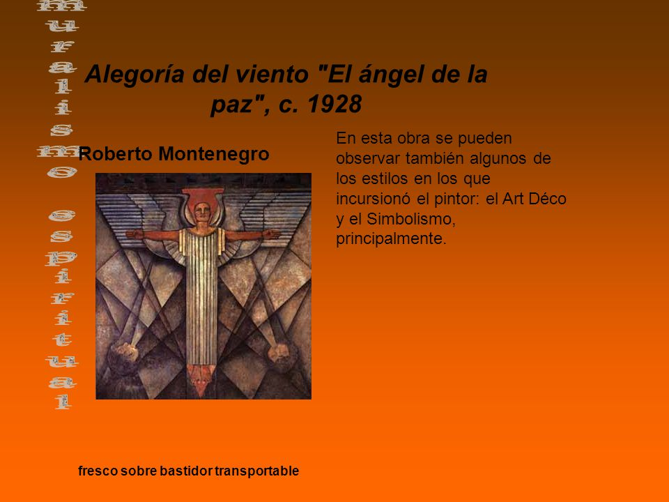 Alegoría del viento El ángel de la paz , c.
