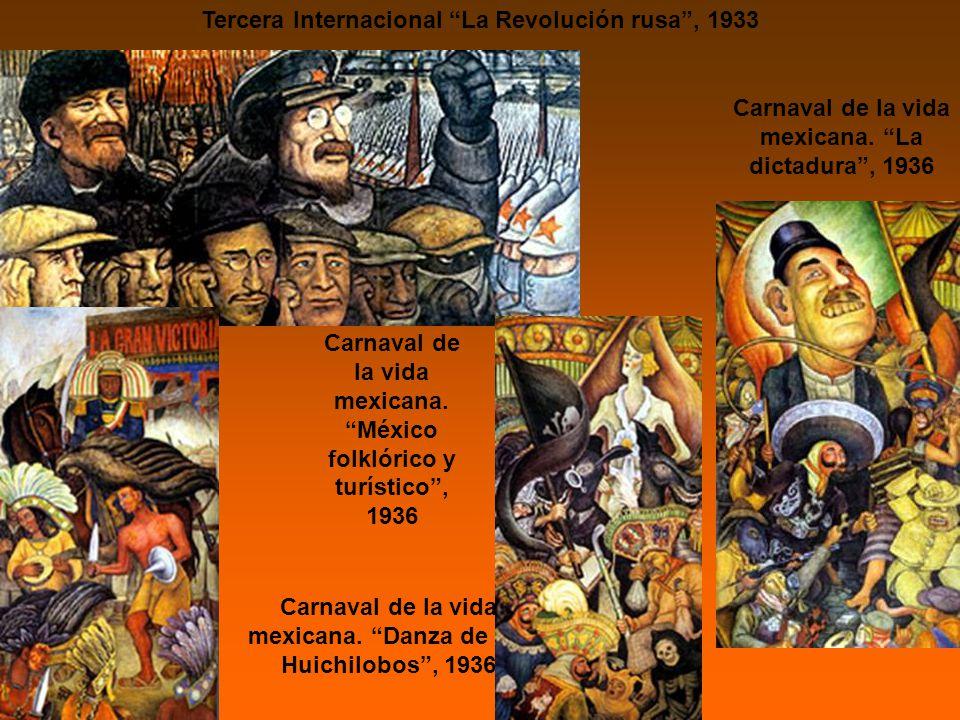 Tercera Internacional La Revolución rusa, 1933 Carnaval de la vida mexicana.