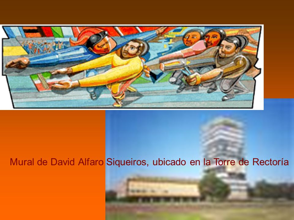Mural de David Alfaro Siqueiros, ubicado en la Torre de Rectoría