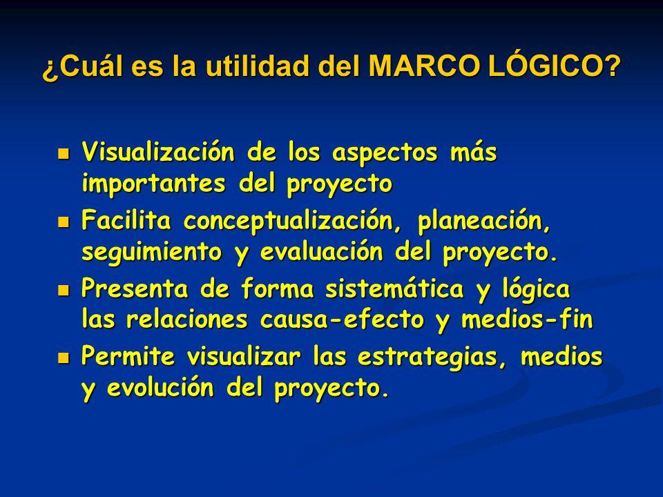Visualización de los aspectos más importantes del proyecto Visualización de los aspectos más importantes del proyecto Facilita conceptualización, plan
