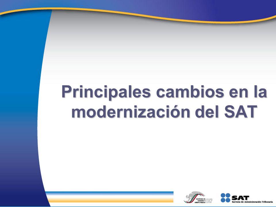 Principales cambios en la modernización del SAT