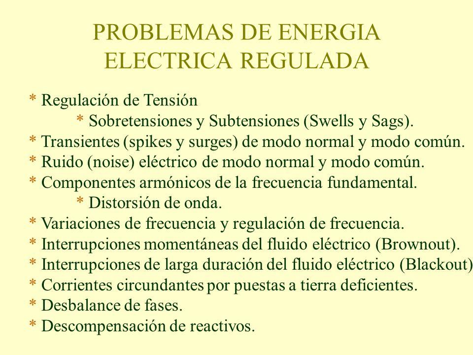 Dimensionamiento de redes reguladas Distribución de circuitos Protecciones termomagnéticas Corriente nominal Totalizadores Regulación Corrientes de Corto circuito Acometidas UPS Tiempos de Suplencia Sistemas de Transferencia