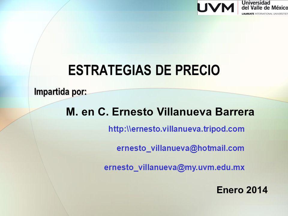 ESTRATEGIAS DE PRECIO Impartida por: M. en C.