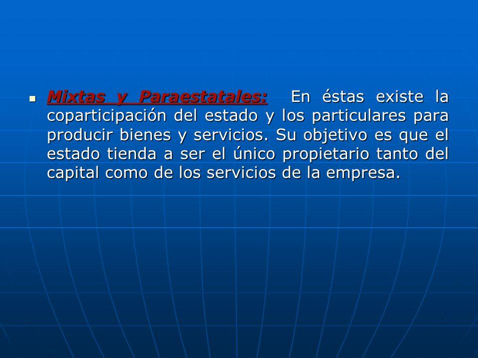 empresa paraestatales: