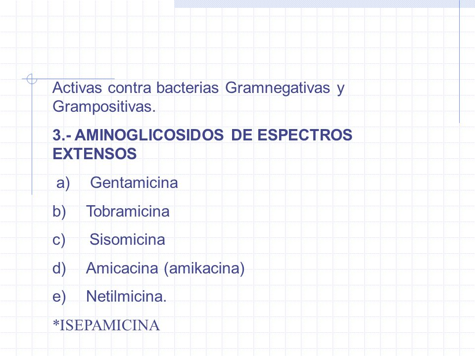 ACTIVIDAD ANTIMICROBIANA Bacterias Gram negativas aeróbicas Bacterias gram positivas es limitada.