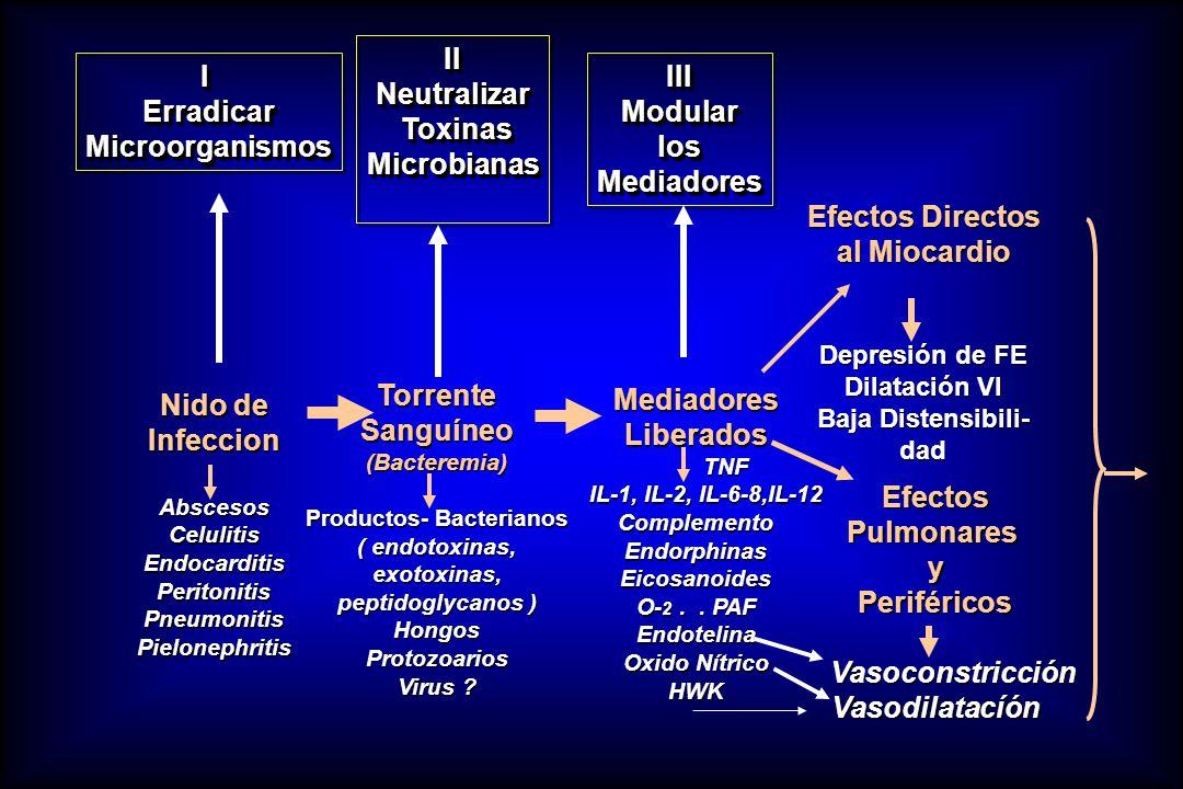IErradicarMicroorganismosIErradicarMicroorganismos IINeutralizar Toxinas ToxinasMicrobianasIINeutralizar Microbianas IIIModularlosMediadoresIIIModular