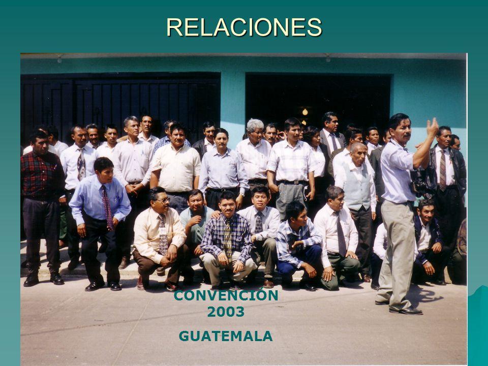 RELACIONES CONVENCIÓN 2003 GUATEMALA